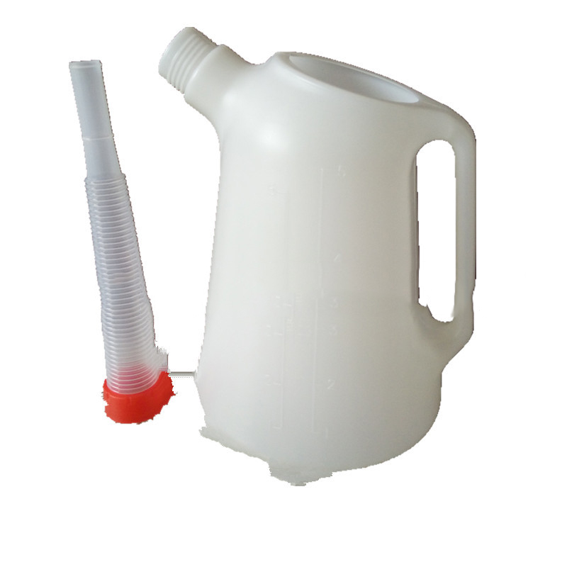 5L Oil Can Long Mouth Plastic Pot 5-liter Scaled Plastic  Boat  Thicken Fueling Pot Oil Gun Fast Oiling