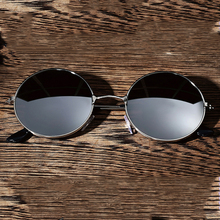Модные мужские и женские винтажные Ретро Круглые Солнцезащитные очки с антибликовым покрытием, металлическая оправа, очки, очки для вождения, очки для спорта на открытом воздухе