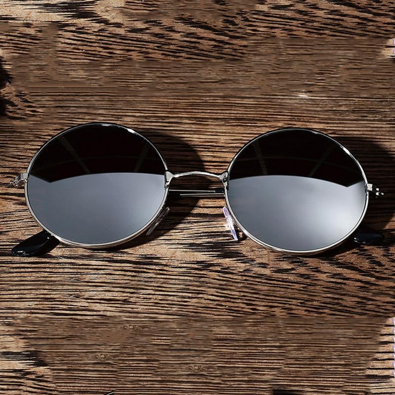 Fashion Men Women Vintage Retro Round Sunglasses Anti glare Metal Frame Eyewear Spectacles Driver Goggles Outdoor Sports Glasses Driver Goggles     - title=