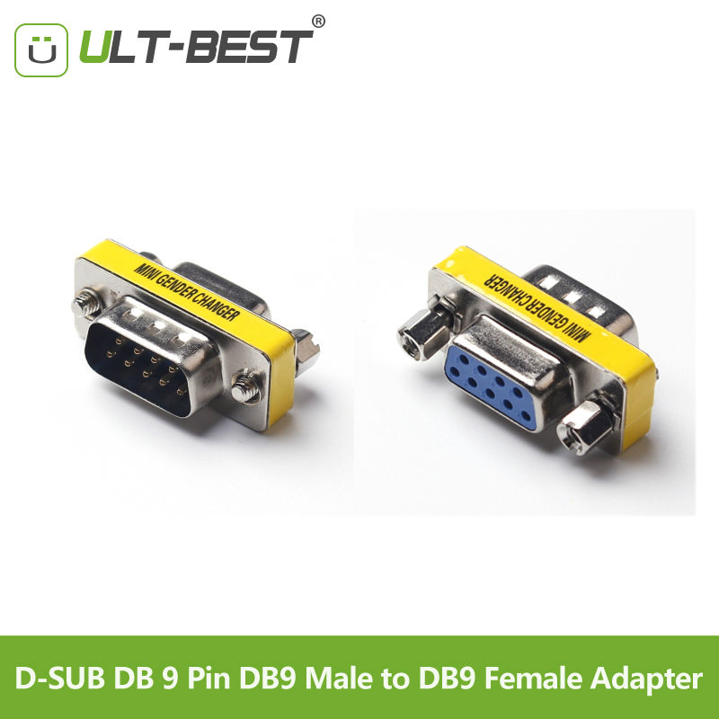 Buy ULT-Best  RS232 D-SUB DB 9 Pin DB9 Male to DB9 Female Adapter DB 9 M/F Connector Extender for only 1.4 USD