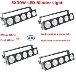 4 paczka  ale już dziś  5 oczy 30W Led publiczności światła COB moc 150W ciepły biały lub zimny biały opcjonalnie macierz pikseli Blinder światła w Oświetlenie sceniczne od Lampy i oświetlenie na