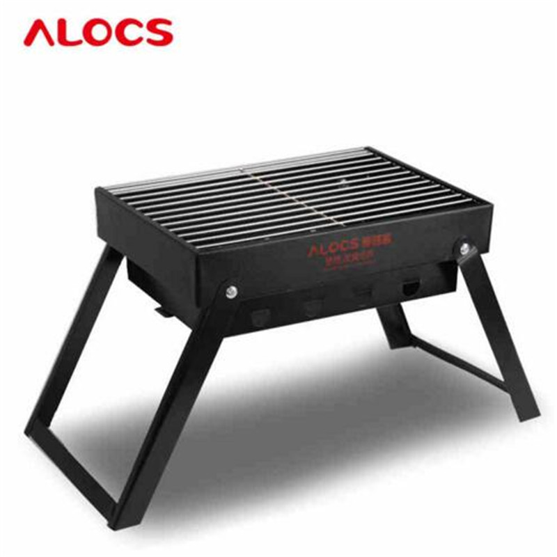Outdoor Cold Rolled Plate Burn Oven Camping Picnic BBQ Grill Portable Folding Charoal Grills Carbon Ovens 1.4KG Safety Health hewolf portable size outdoor camping beach bbq barbecue grill rack household use lightweight folding picnic rack stand well sell