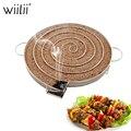 Aço inoxidável churrasco grill acessórios para bacon carne de peixe assado ferramentas fumaça fria gerador redonda fumante chips de madeira ferramenta churrasco|Grelha de churrasco|   -