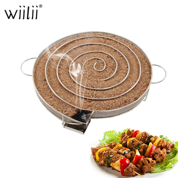 Stainless Steel BBQ Grill Accessories For Bacon Meat Fish Roast Tools Cold Smoke Generator Round Smoker Wood Chips Barbecue Tool