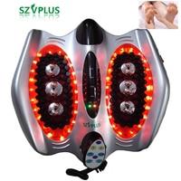 Deep Roller kneading heating far infrared foot massager TENS electric acupuncture Shiatsu reflexology foot massage product