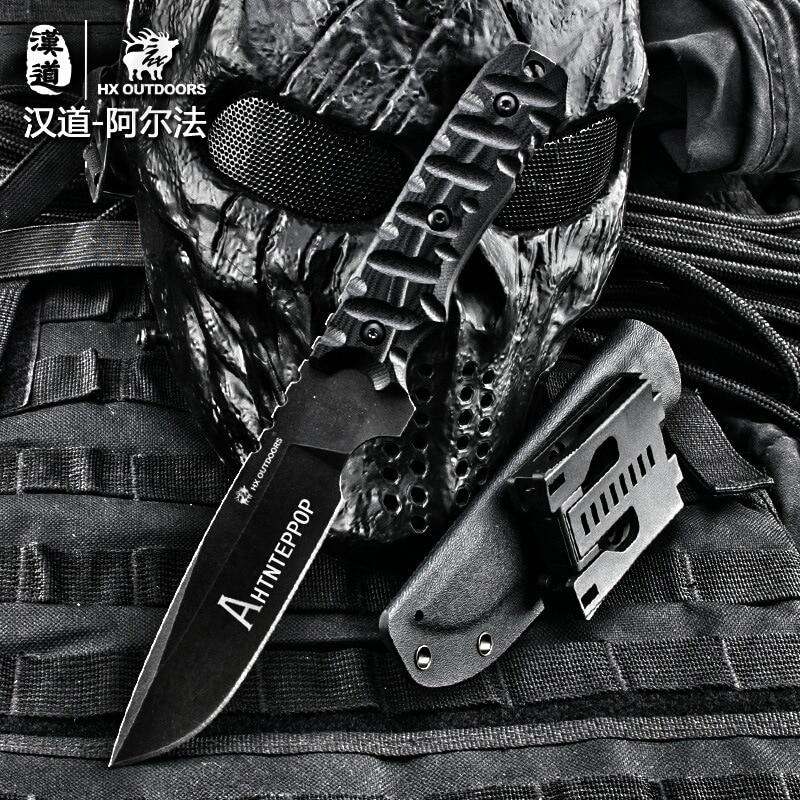 HX OUTDOORS kemping kés D2 penge saber taktikai rögzített kés - Kézi szerszámok - Fénykép 5