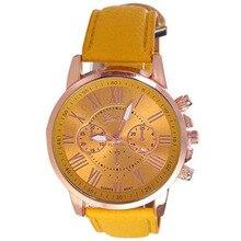 Trend Roman numerals Six-pin dial quartz Watch Scorching Yellow