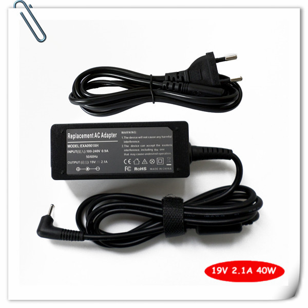 Cavo di alimentazione ac adapter laptop charger per <font><b>asus</b></font> mini Eee pc 19 v 2.1a adattatore ca 2.5x0.7mm 1015pe <font><b>1015pn</b></font> 1015pem Notebook image