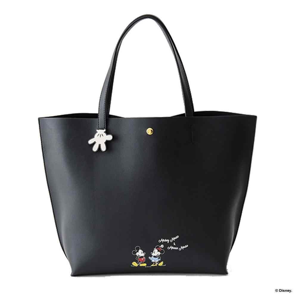 Disney Mickey mouse Túi Vai Phim Hoạt Hình phụ nữ Tote Dung Lượng Lớn Phụ Nữ thời trang Túi Xách tay túi vai
