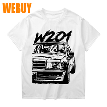 Anime  W201 190e Casual New Arrival Tee Shirt Man Fashion Crewneck T-Shirt Fashionable 100% Cotton
