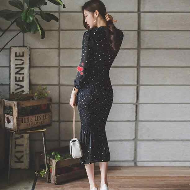Хай-стрит Новый 2019 весенние дизайнерские v-образным вырезом эластичные пикантные эластичные тела хвост рыбий хвост, шифоновое, платье-русалка платье DC844