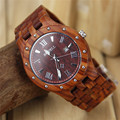 BEWELL Mens Business Watches Top Brand Luxury Wooden Quartz Watch Calendar Display Men Dress Wristwatch Relogio Masculino