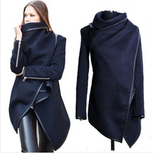 wholesale 2019 Black newly listed Autumn Spring Coat Womens