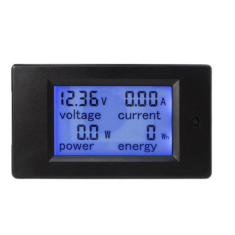 Nuevo DC 6.5-100 V 0-20A pantalla LCD Digital voltaje de corriente medidor de energía multímetro amperímetro voltímetro