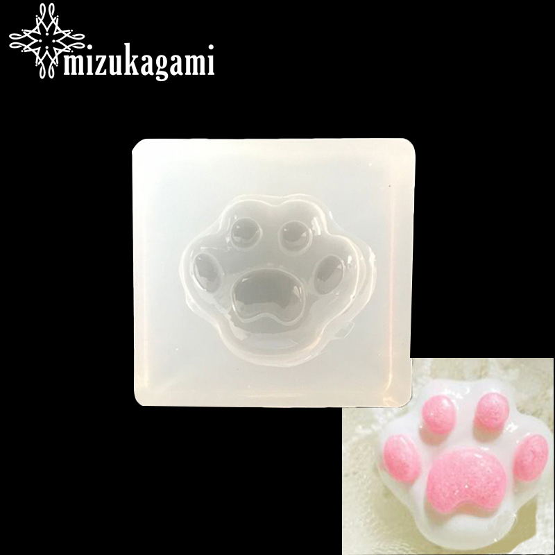 UV Resin Jewelry Liquid Silicone Mold Bear Paw Shaped Silicone Animal Paw Resin Molds For DIY Pendant Charms Making Jewelry