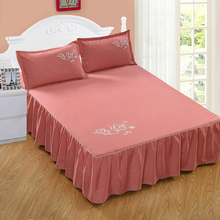Reactive printing cotton bed skirt