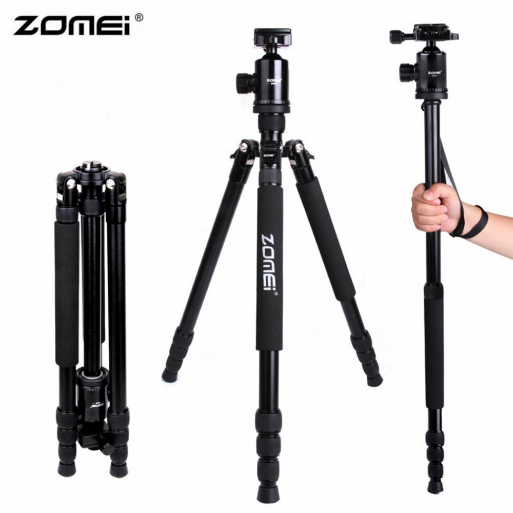 Zomei Z888 Portable Stable Magnesium Alloy Digital Camera Tripod Monopod Ball Head For Digital SLR DSLR Camera цена