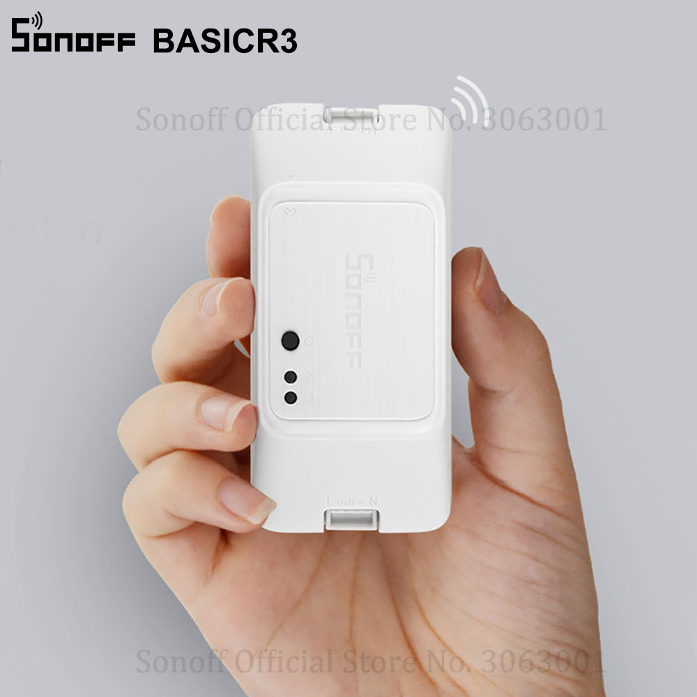 EWeLink APP Smart Sonoff BasicR3 WiFi Switch Smart Remote Control DIY Switch Basic R3 Compatible with Alexa Google Home IFTTT in Home Automation Modules from Consumer Electronics
