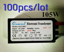 DHL 100PCS Fast delivery/ holagen driver Electronic Transformer 105W AC 220V to 12V For Panel Light&Crystal Lamp G4 Light Beads