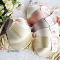Pure silk Bra Double Faced Silk Wire Sponge Thin 100% Mulberry Silk Bras 34/75-42/95AB FREE SHIPPING