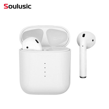 Soulusic i10 TWS Mini Wireless Bluetooth Earphone Stereo Headphone Touch Control Wireless Charging Headset With Charging Box Mic