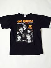 ONE DIRECTION 2015 TOUR ORANGE BLACK BIG LOGO T SHIRT - Harry Styles Zayn Malik New Brand-Clothing T-Shirts Top Tee Plus Size