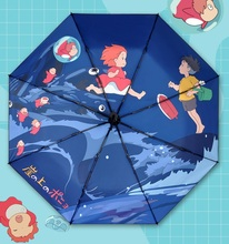 Ghibli Totoro Ponyo on the Cliff Umbrella Sun Rain Umbrella Parasol Female Plegable Sombrillas Paraguas Guarda Chuva Parapluie катя нева я не запомнила твоё имя