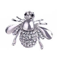 Nova Chegada Hot Sale Da Moda Europeia Animal Bonito Inset Rhinestone Little Bee Pin Broche