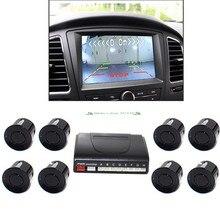 Parktronics sensores de estacionamento do carro 4/6/8 radares alarme sonda detector rca sistema vídeo mostrar distância imagem assistência