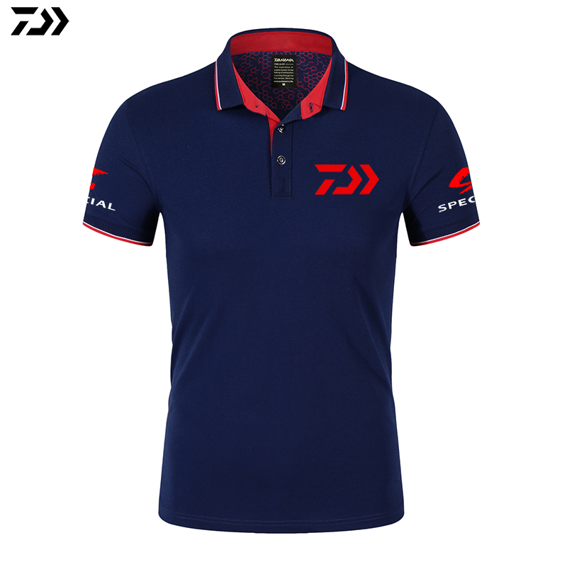 DAIWA Fishing Clothing Fishing Quick-Drying Breathable POLO Fishing Tshirt Anti-UV Sun Protection Short Sleeve Fishing Clothes