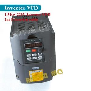 Image 5 - De 送料付加価値税 1.5KW ER16 空冷スピンドルモータ 80 × 200 ミリメートル & 1.5KW インバータ vfd 220 v & 80 ミリメートルアルミの cnc ルーため calmp