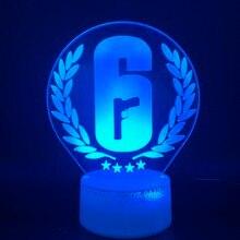 Украшение дома Радуга шесть осада Ночной светильник светодиодный сенсорный Сенсор Цвет Изменение Детские подарок для игрового стола Ночной светильник Радуга 6