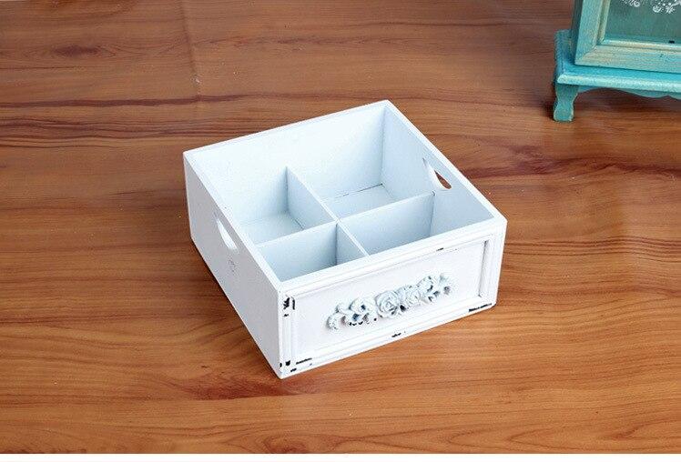 1 шт. ZAKKA продуктовый Белый Дерево мусора рабочего BOX оптовые поставки домашнего интерьера ретро старый ящик для хранения JL 0919