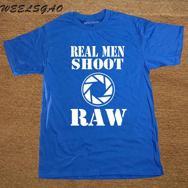 Echte Männer Schießen Raw Photography Funny T Shirts Neue Baby Vater ...