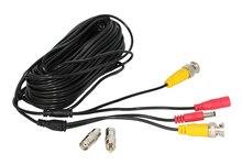 Hiseeu 59ft 18m 32ft 10m BNC + DC CCTV כבל עבור אנלוגי AHD CVI CCTV מעקב מצלמה DVR ערכת וידאו כוח 2in1 כבל מצלמה