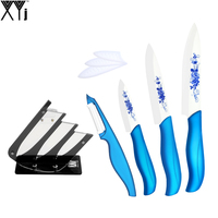 XYj High Grade Ceramic Knife Holder Peeler 3 Inch 4 Inch 5 Inch Kitchen Knife Set