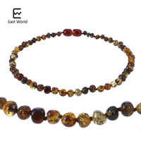 EAST WORLD Amber Necklace For Women Baltic Natural Amber Beads Baby Jewelry For Boy Girl Infant