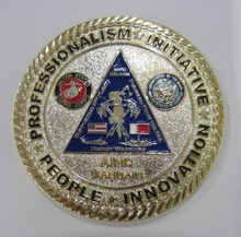 Promotional professional brass metal commemorative coin badge