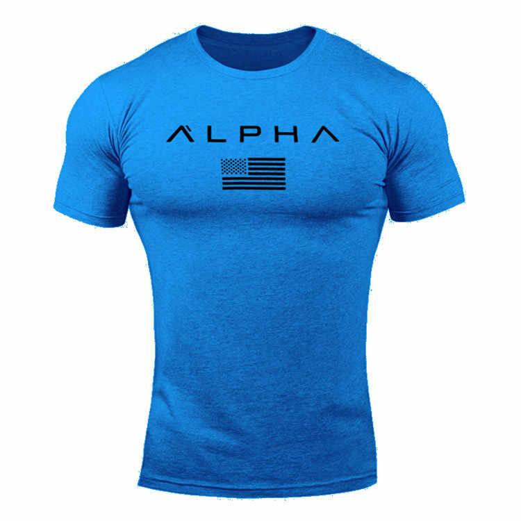 2018 Mens צבאי צבא T חולצה 2017 גברים כוכב רופף חולצה O-צוואר אלפא אמריקה גודל קצר שרוול חולצות ה-t