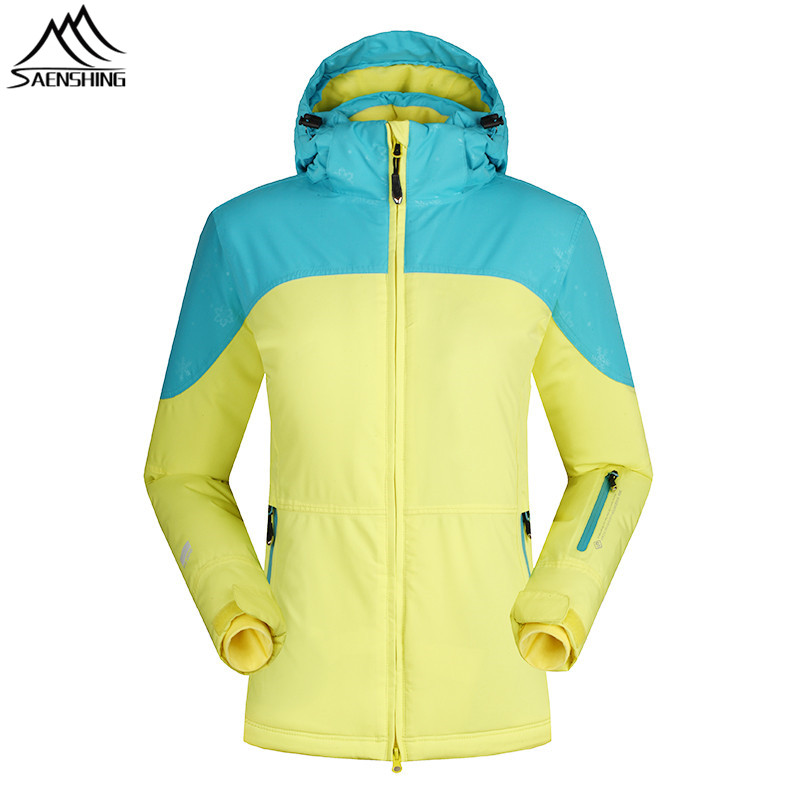 SAENSHING Winter Ski Jacket Women Waterproof Snow Snowboard Jacket Outdoor Ski Coats Thicken Warm Skiing and Snowboarding Wear gsou snow brand ski pants women waterproof high quality multi colors snowboard pants outdoor skiing and snowboarding trousers