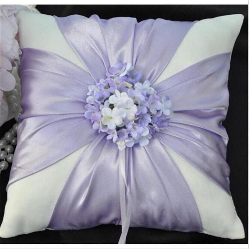 Envío Gratis Casamento Flor Púrpura Anillo de Boda Almohadas - Para fiestas y celebraciones - foto 1