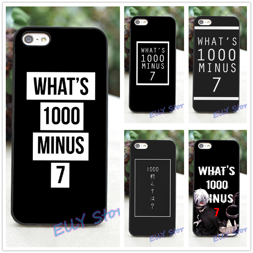 iphone 1000. what\u0027s 1000 minus 7 tokyo ghoul fashion cover case for iphone 4 4s 5 5s 5c se 6 plus 6s #xe109