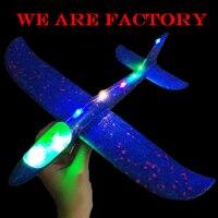 35cm DIY chico lancha a mano aviones de espuma avión modelo Fiesta brillo en la oscuridad vuelo planeador juguetes para chico|Aviones con radiocontrol| |  -