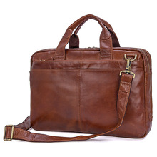 "Men Briefcases Business 15"" Laptop Travel Bags 2019 Genuine Leather Man Cow Leather Fashion Brand Casual Shoulder Crossbody Bags"