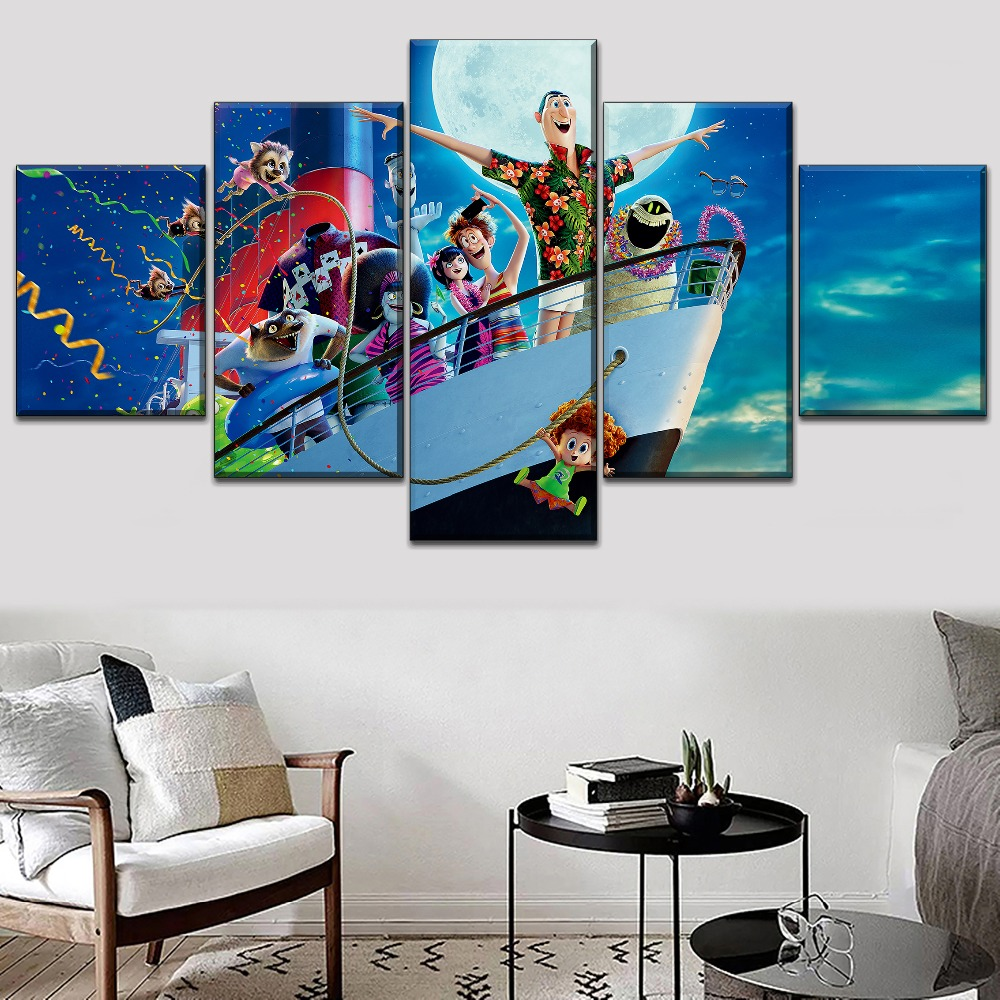 Top Rated Canvas Printed 5 Panel Catoon Movie Hotel