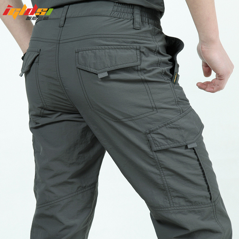 Quick Dry Casual Pants Men Summer Army Military Style Trousers Men's Tactical Cargo Pants Male lightweight Waterproof Trousers(China)