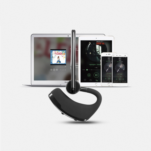 Original Handsfree Business Wireless Bluetooth Headset With Mic Voice Control Earphone Driver Sport For Iphone 7 6S 6 5S 5 4