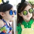 Retro sunglasses Children round summer goggles Kids color filmsun shades Pretty girls oculos Metal gafas Child loved KS0041