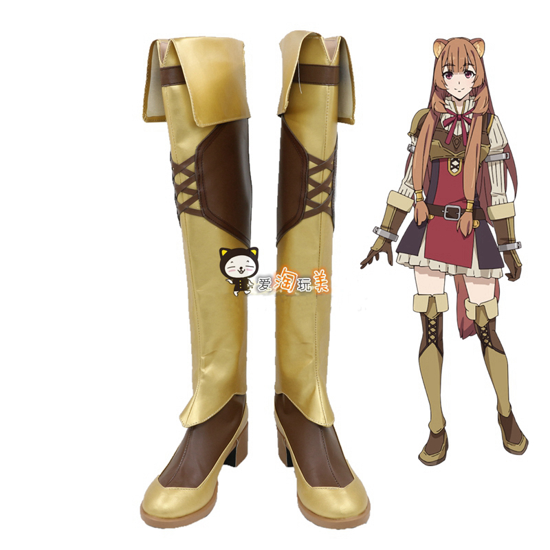 Anime Tate no Yuusha no Nariagari Cosplay Boots The Rising of the Shield Hero Cosplay Shoes Raphtalia Boots Cosplay Accessories
