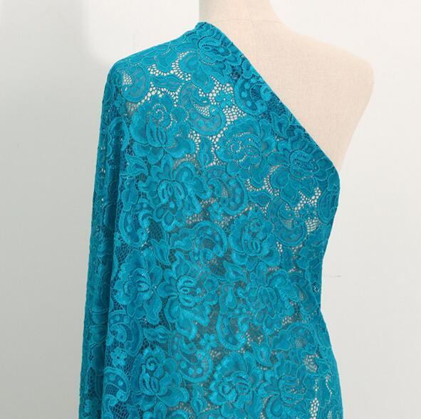 2 מטר/הרבה אפשרויות בד תחרה למתוח ניילון תפירת שמלת שמלת שמלת כלה, בד תחרה למתוח לסרוג